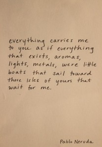 everything carries me